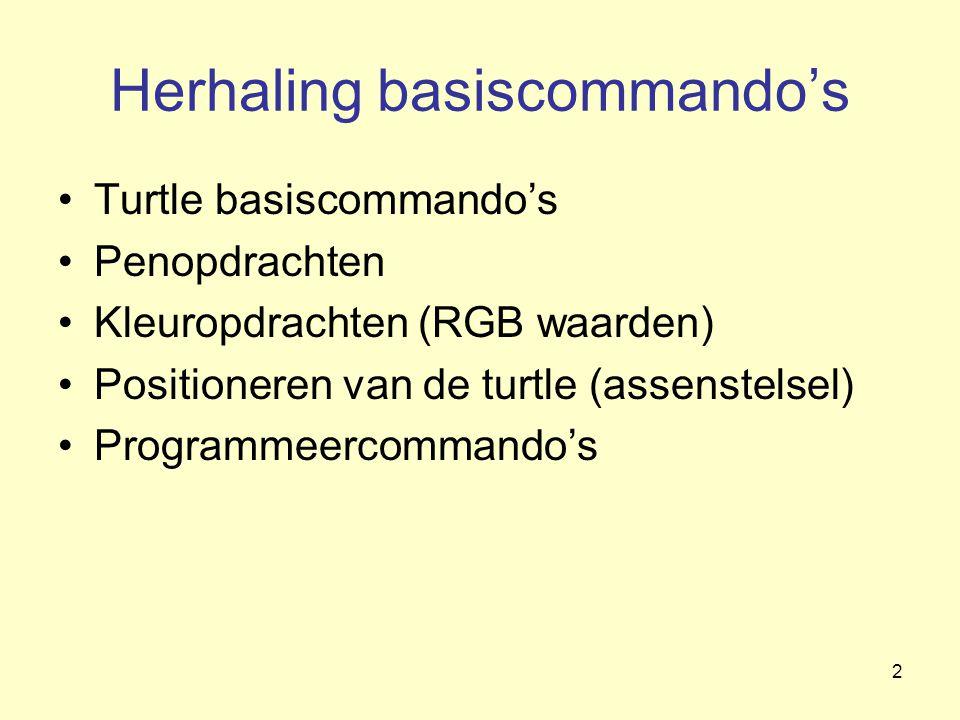 Herhaling basiscommando's