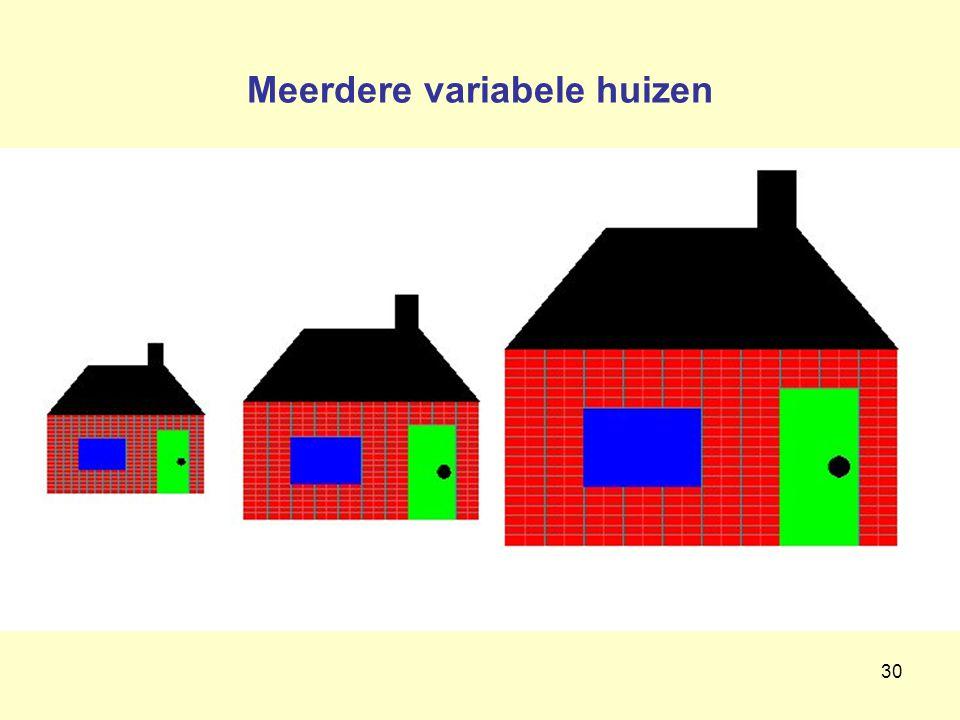 Meerdere variabele huizen