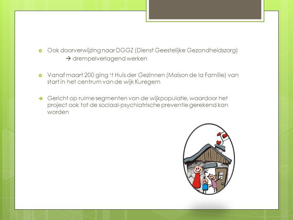 Ook doorverwijzing naar DGGZ (Dienst Geestelijke Gezondheidszorg)