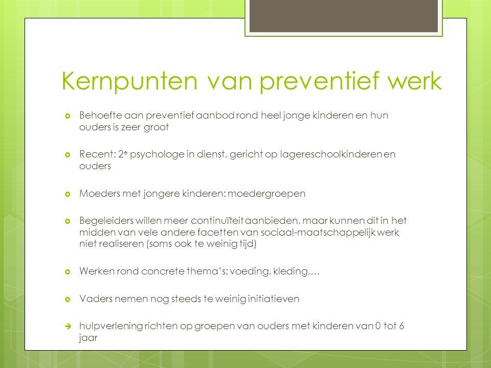 Kernpunten van preventief werk