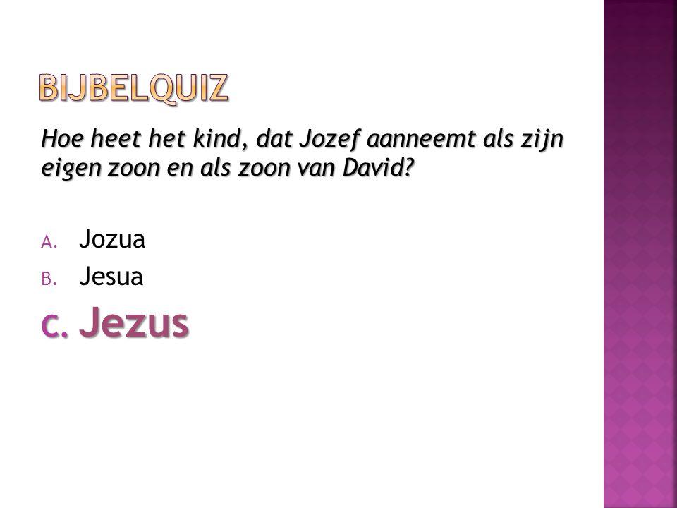 Jezus Bijbelquiz Jozua Jesua