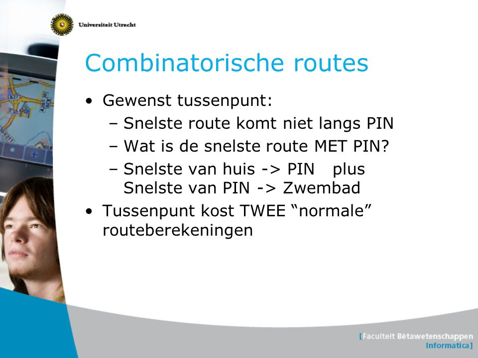 Combinatorische routes