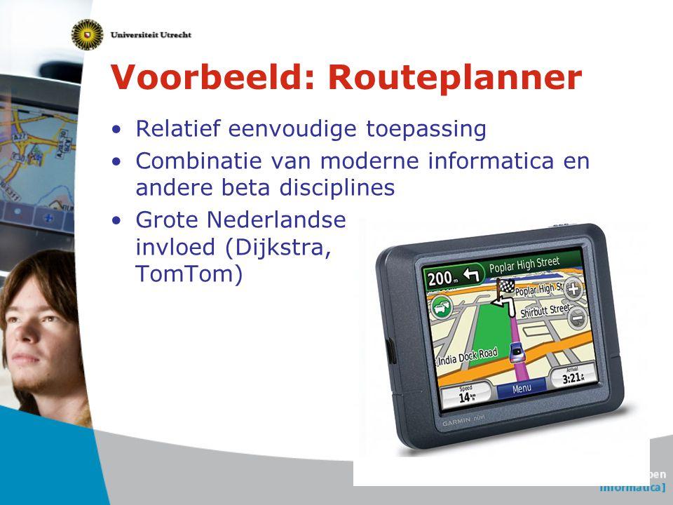 Voorbeeld: Routeplanner