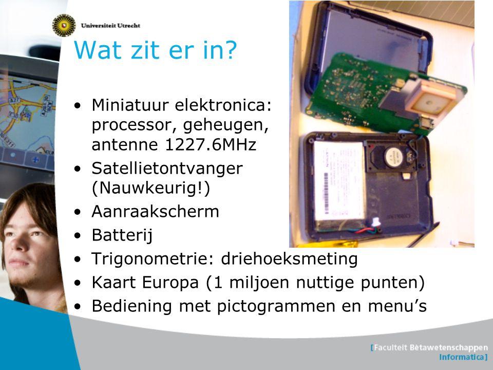 Wat zit er in Miniatuur elektronica: processor, geheugen, antenne 1227.6MHz. Satellietontvanger (Nauwkeurig!)