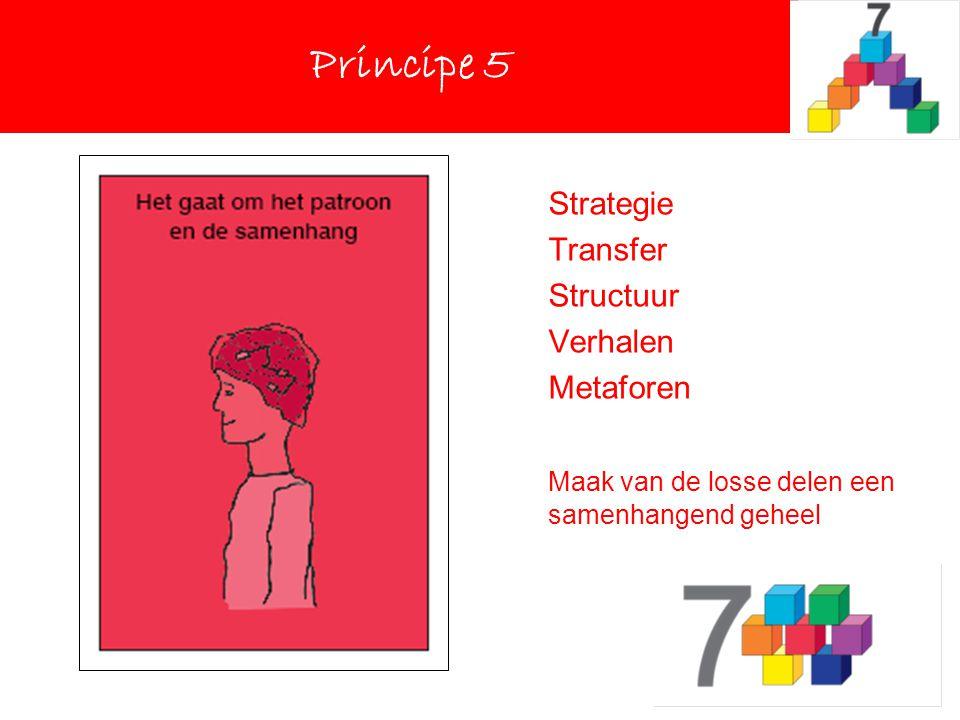 Principe 5 Principe 5 Strategie Transfer Structuur Verhalen Metaforen