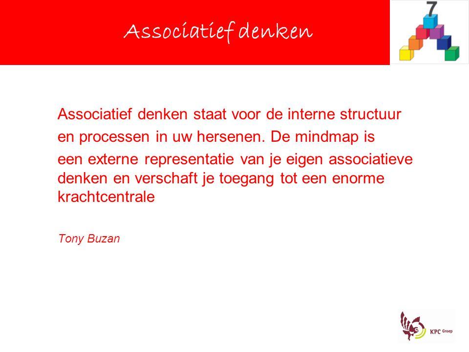 Associatief denken Associatief denken staat voor de interne structuur