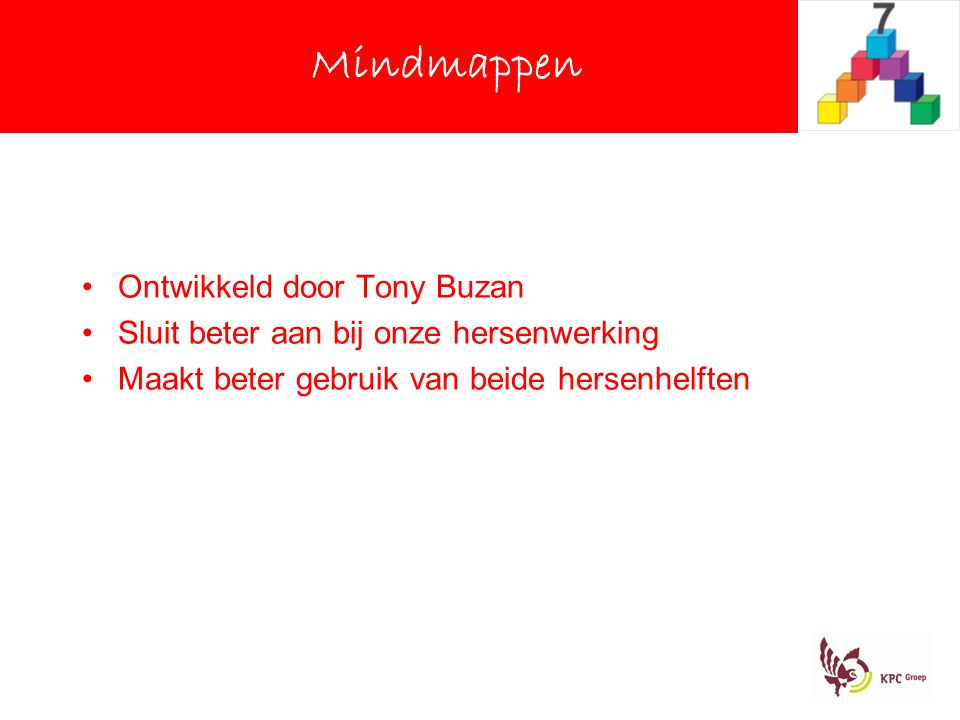Mindmappen Ontwikkeld door Tony Buzan