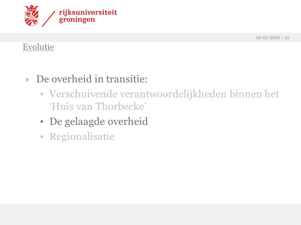 De overheid in transitie: