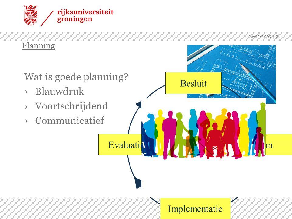 Wat is goede planning Blauwdruk Voortschrijdend Communicatief Besluit