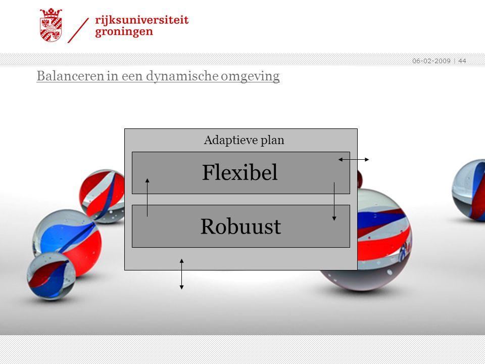Flexibel Robuust Balanceren in een dynamische omgeving Adaptieve plan
