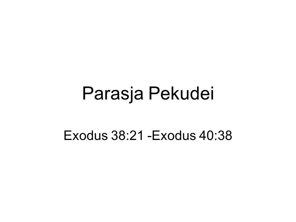 Parasja Pekudei Exodus 38:21 -Exodus 40:38