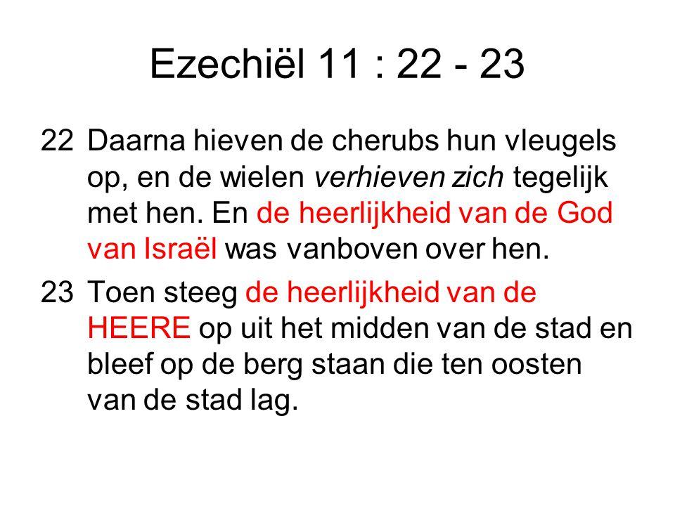 Ezechiël 11 : 22 - 23