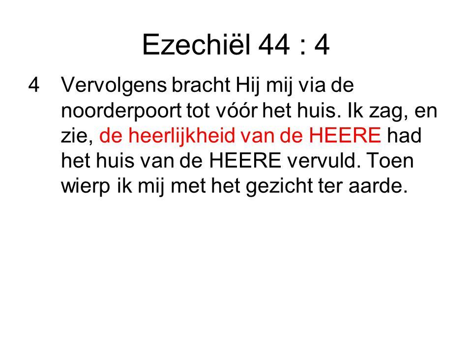 Ezechiël 44 : 4