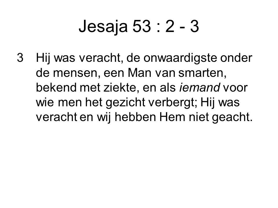 Jesaja 53 : 2 - 3
