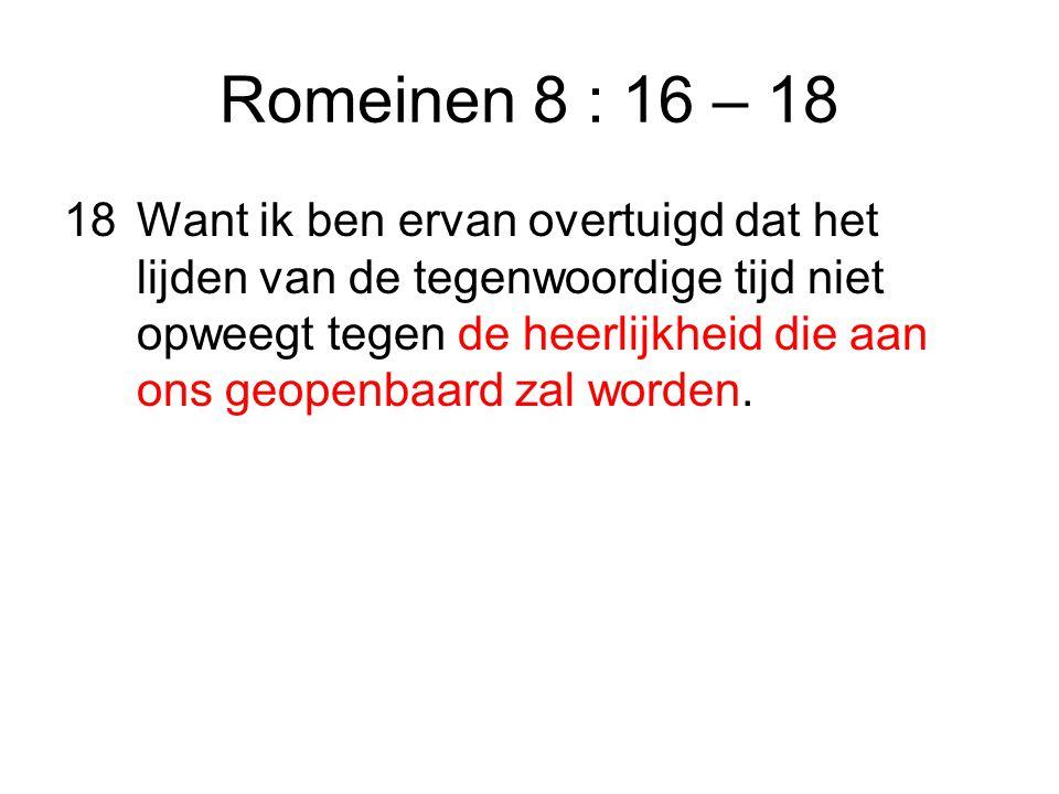 Romeinen 8 : 16 – 18