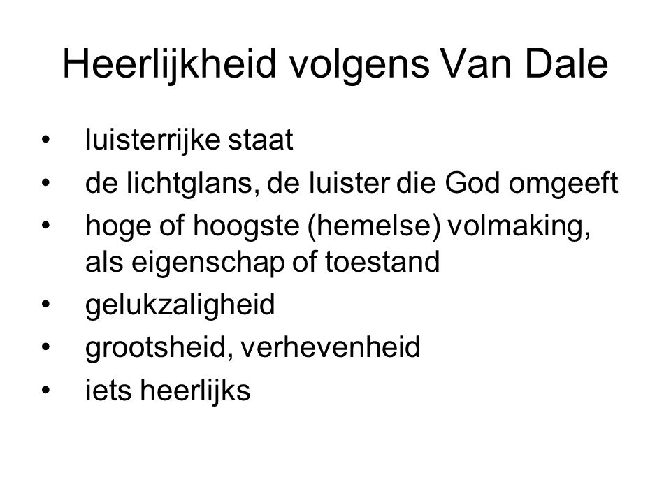 Heerlijkheid volgens Van Dale