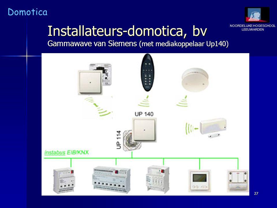 Installateurs-domotica, bv Gammawave van Siemens (met mediakoppelaar Up140)