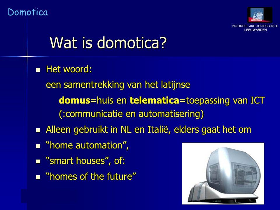 Wat is domotica Het woord: een samentrekking van het latijnse