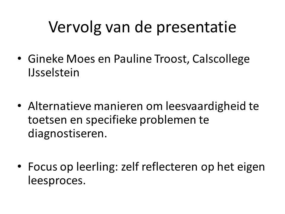 Vervolg van de presentatie