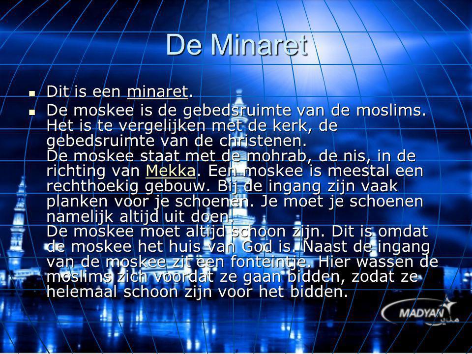 De Minaret Dit is een minaret.