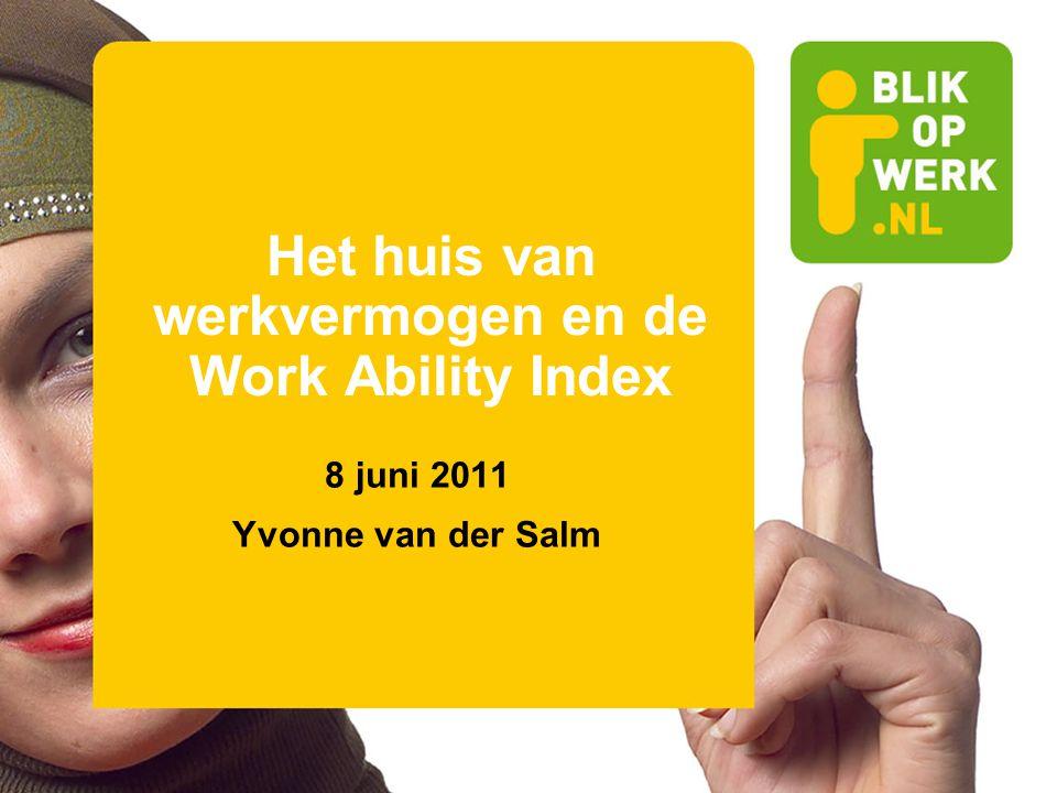 Het huis van werkvermogen en de Work Ability Index