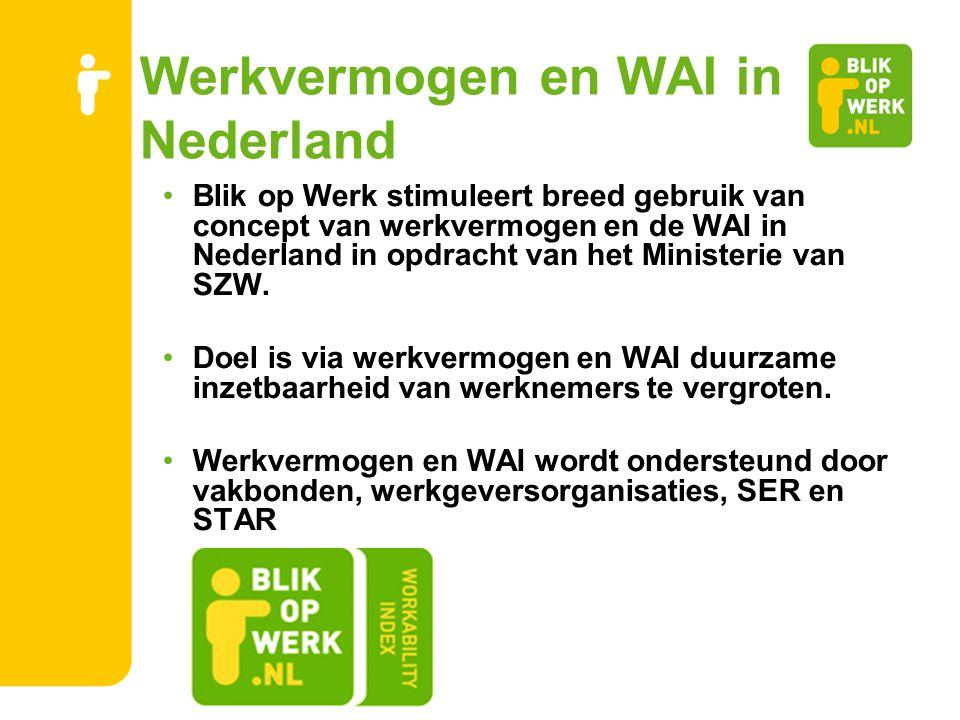 Werkvermogen en WAI in Nederland