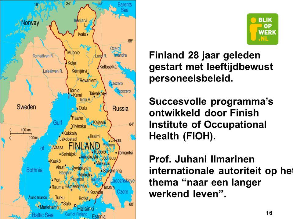 Finland 28 jaar geleden gestart met leeftijdbewust personeelsbeleid.
