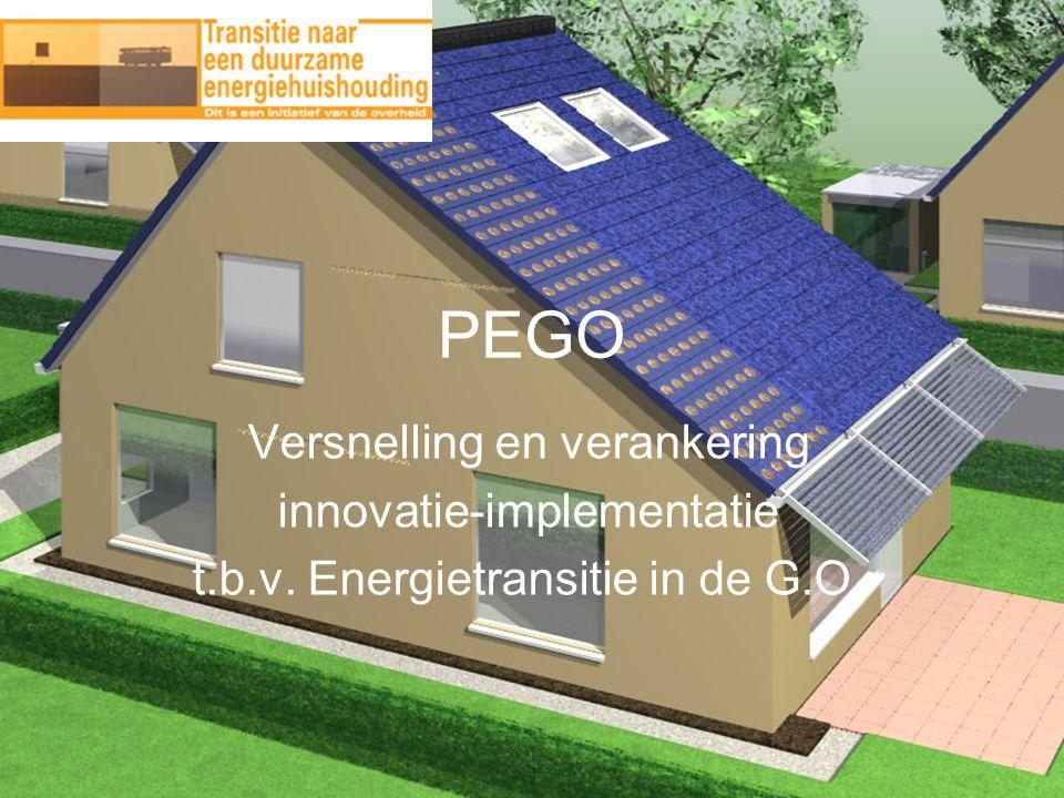 PEGO Versnelling en verankering innovatie-implementatie