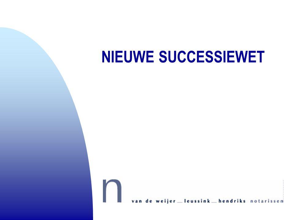 NIEUWE SUCCESSIEWET