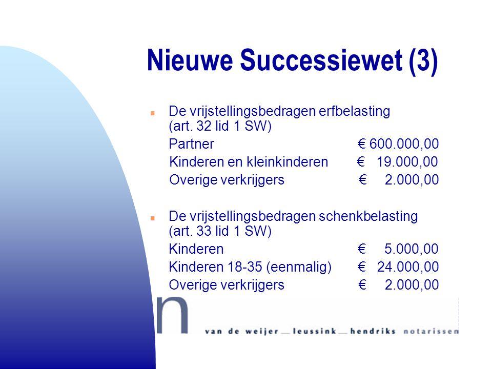 Nieuwe Successiewet (3)
