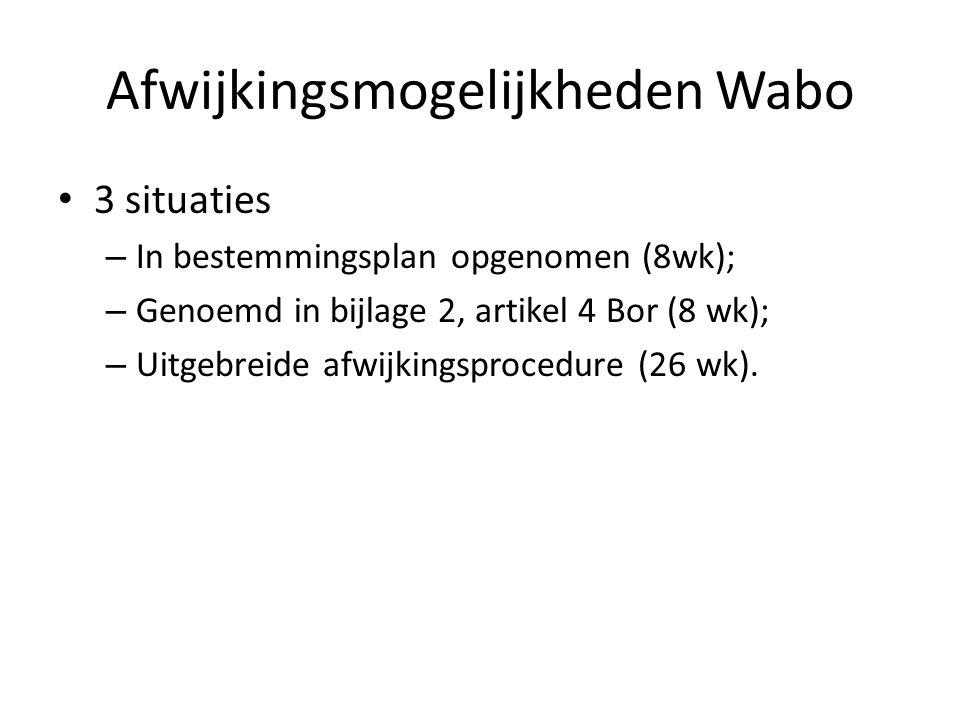 Afwijkingsmogelijkheden Wabo