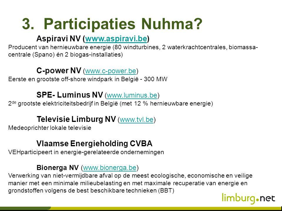 3. Participaties Nuhma Aspiravi NV (www.aspiravi.be)