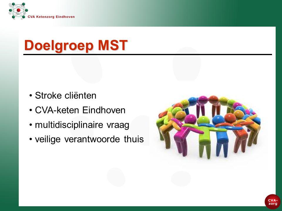 Doelgroep MST Stroke cliënten CVA-keten Eindhoven