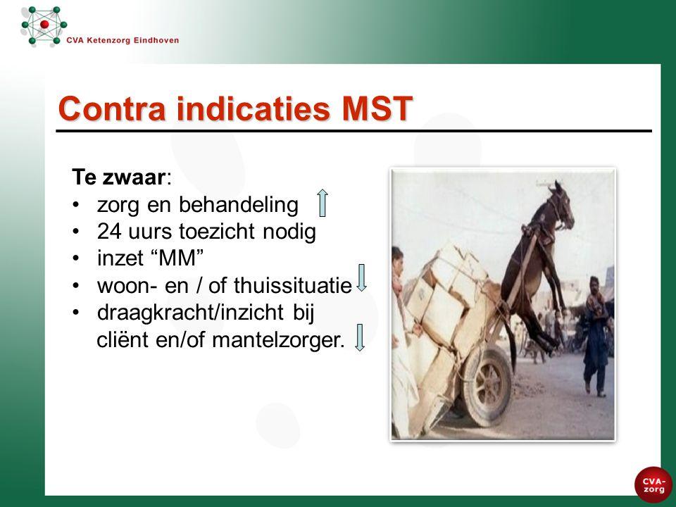 Contra indicaties MST Te zwaar: zorg en behandeling