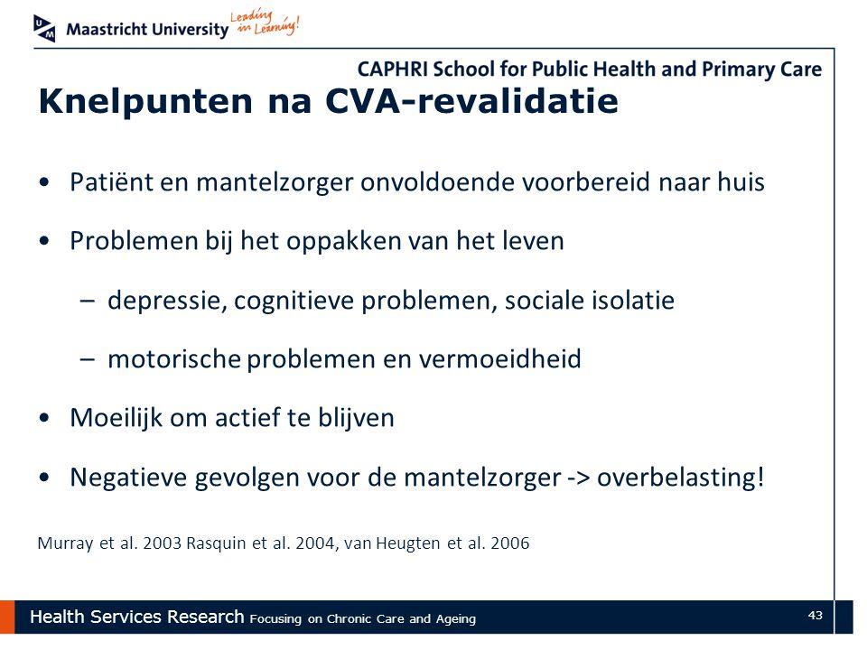 Knelpunten na CVA-revalidatie