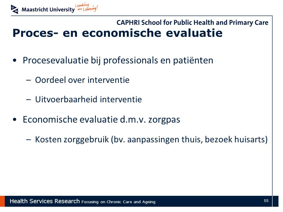 Proces- en economische evaluatie