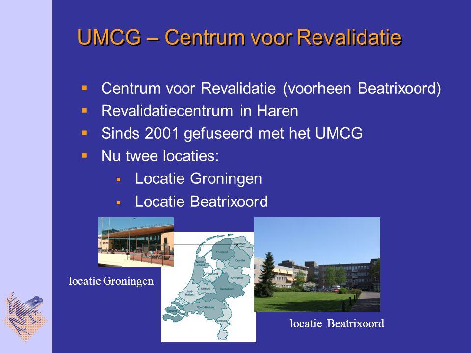 UMCG – Centrum voor Revalidatie