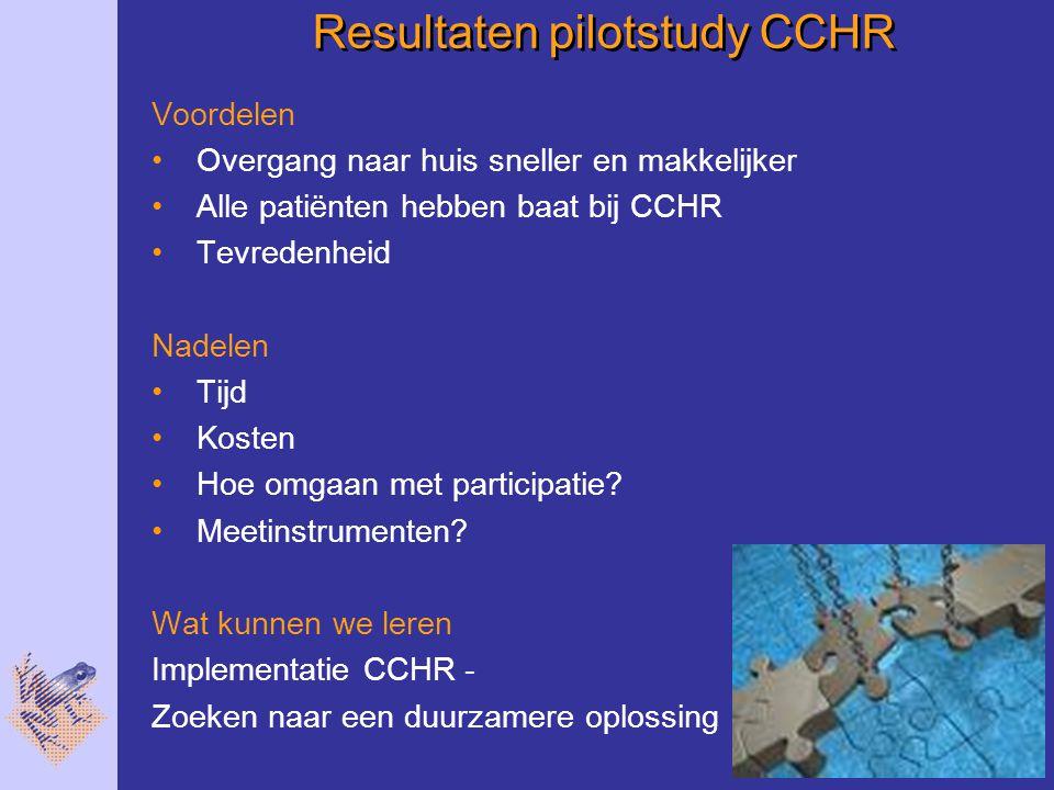 Resultaten pilotstudy CCHR