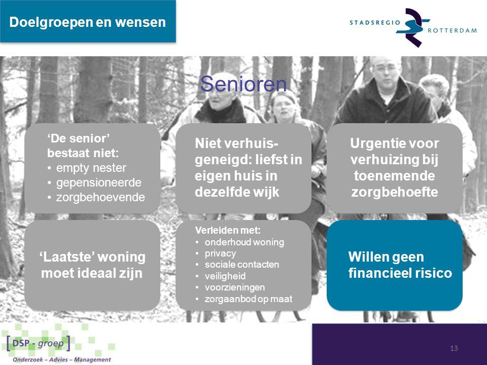 Senioren Doelgroepen en wensen