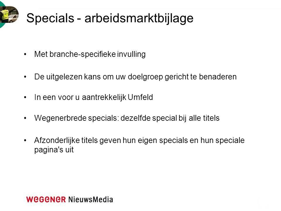 Specials - arbeidsmarktbijlage