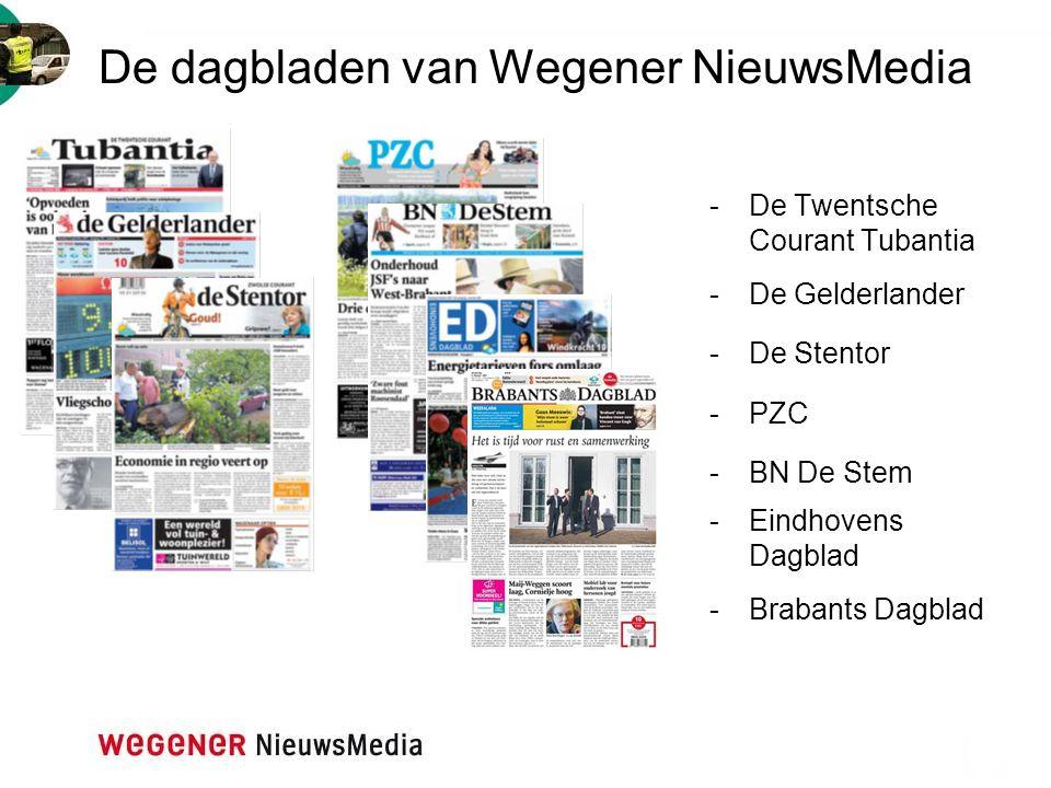 De dagbladen van Wegener NieuwsMedia