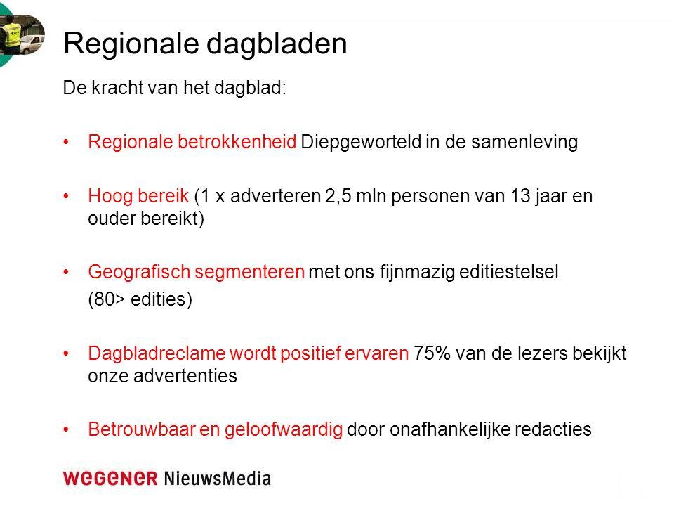 Regionale dagbladen De kracht van het dagblad:
