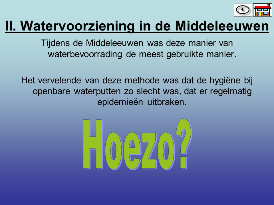 II. Watervoorziening in de Middeleeuwen