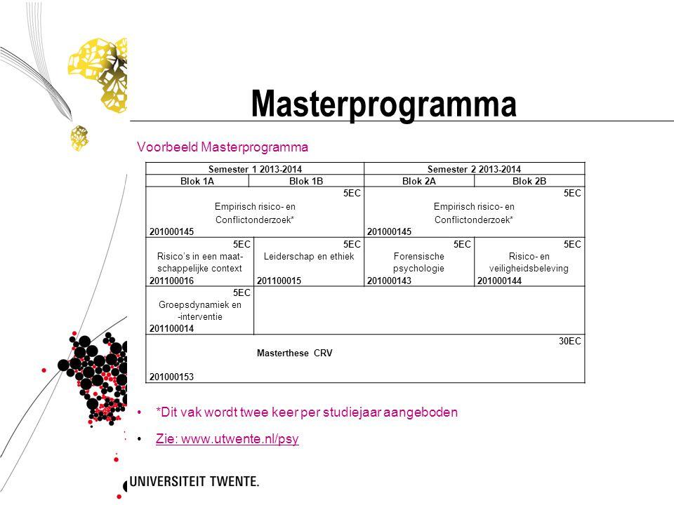 Masterprogramma Voorbeeld Masterprogramma