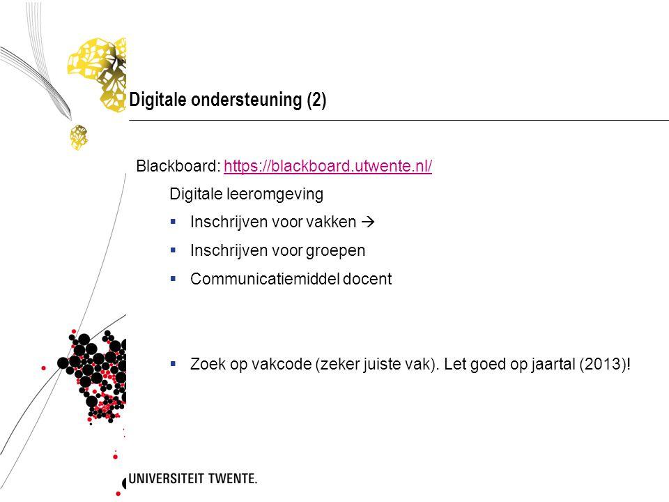 Digitale ondersteuning (2)