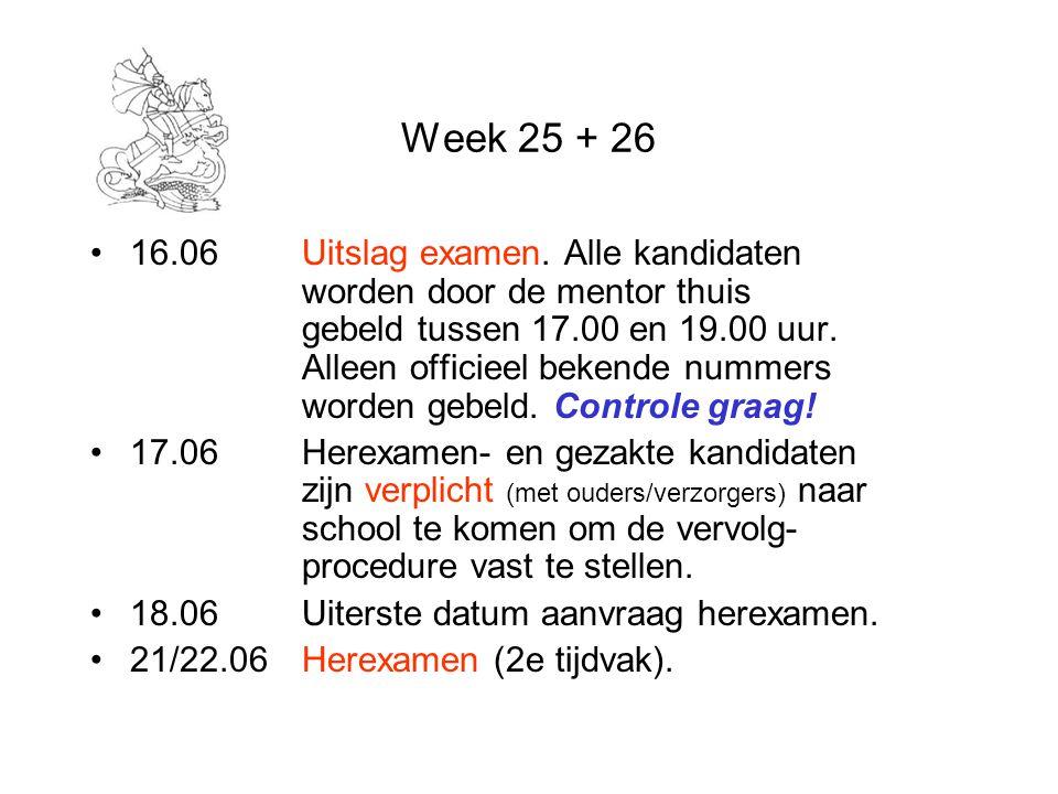Week 25 + 26