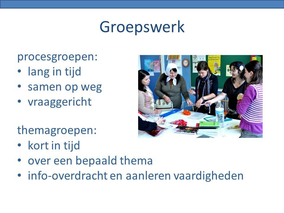 Groepswerk procesgroepen: lang in tijd samen op weg vraaggericht