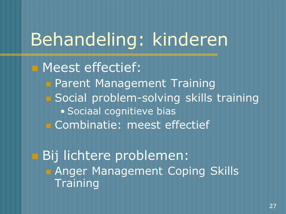 Behandeling: kinderen