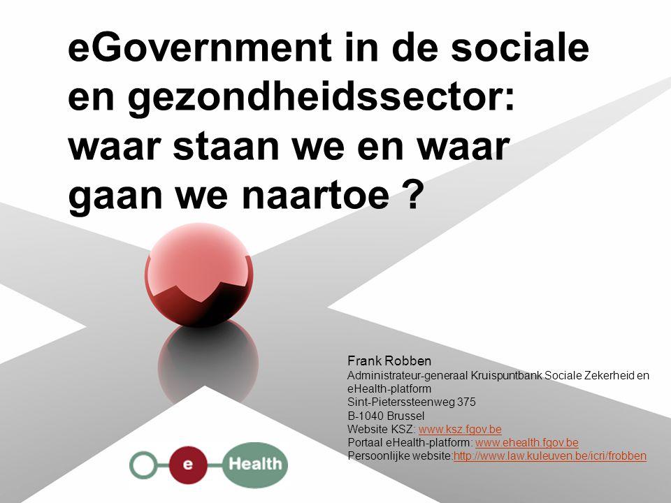 eGovernment in de sociale en gezondheidssector: waar staan we en waar gaan we naartoe