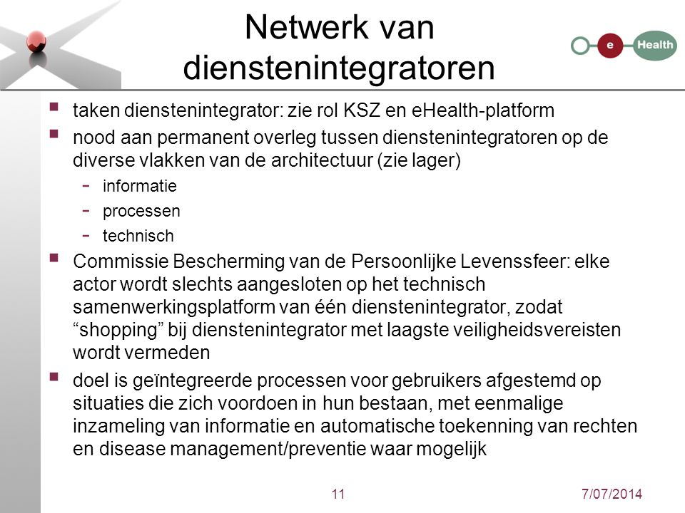 Netwerk van dienstenintegratoren